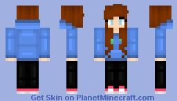 Blue Hoodie (Updated) Minecraft Skin