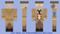 Nick Valentine from Fallout 4 Minecraft Skin