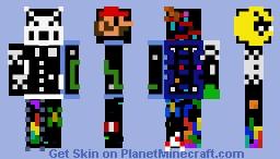 Classic Arcade Games Mashup Skin Minecraft