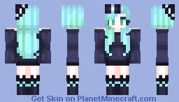 -=Green-/-Blue=- Minecraft Skin