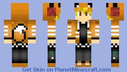 Blonde Fox Hoodie Boy Minecraft Skin
