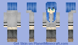~Konata Izumi~ Lucky star! Minecraft Skin