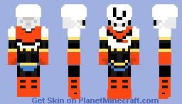 Undertale - Papyrus Minecraft Skin