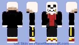 Underfell! sans Minecraft Skin