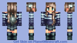 ~Wolf girl/for a friend~ Lyя (Popreel k) Minecraft Skin