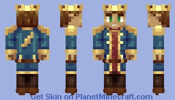 Blue King Masterj1240 Minecraft Skin