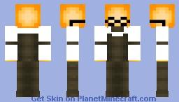 [Undertale] Grillby Minecraft Skin