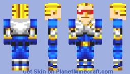 Captain Commando (Marvel VS Capcom 2) (Retro Contest Entry) Minecraft Skin