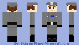 Imperial Navy Officer - Star Wars - lower eyes variant. Minecraft Skin