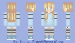 Aqua Blonde Minecraft Skin