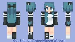 ƁℓυєAηgєℓ ~ Teal Panda Remake // Male Version In Desc! Minecraft Skin