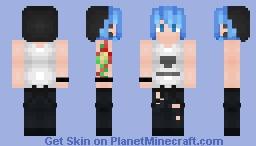 ♠Chloe  (Genderbend)♠ Life is Strange Minecraft Skin