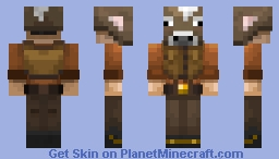 & Cow Costume Minecraft Skin