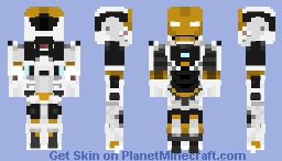 Iron Man 3 - Mark 39 (Starboost/Gemini) Minecraft Skin