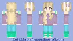 Simple Light Purple and Green Minecraft Skin