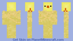 Easter Baby Chicken - Head Animal Minecraft Skin
