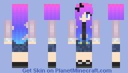 Rainbow hair!! Minecraft Skin