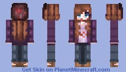 ☆ ᒪᙓIᗩ_ ☆  Night Goes On ♫ Minecraft Skin