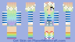 Rainbow Girl ^-^ Minecraft Skin