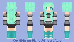 Neon Stripes Minecraft Skin