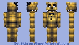 FNaF World Golden Freddy & Fredbear (Fredbear in desc.) Minecraft Skin