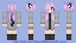 Purple Meif'wa girl Minecraft Skin