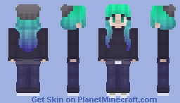 cool hair thing because why the hell not Minecraft Skin