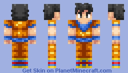 Goku (Skin battle vs ChromeBattleAxe) Lost skins after PMC update found Minecraft Skin