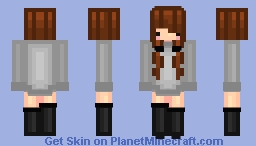 girl in grey sweater dress [dg] Minecraft Skin