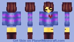 Frisk []-♠ Undertale Series ♠-[] Minecraft Skin