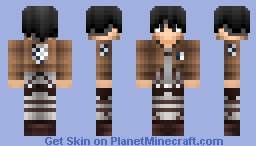 ⚜ Ꮭꆭvi ⚜ (Levi from AOT) Minecraft Skin