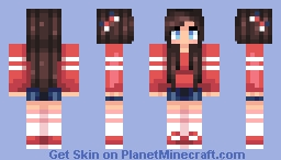 CUTE KAWAII TEEN GIRL XD!!! Minecraft Skin
