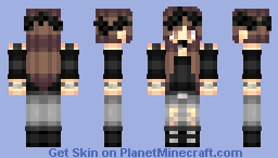 Gray and Black Minecraft Skin