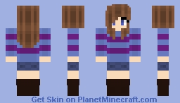 Me as Frisk - Undertale (Read Desc. Please) Minecraft Skin