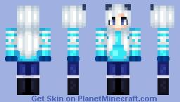 Ice Cat Minecraft Skin