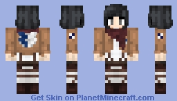 Mikasa Ackerman | Attack on Titan Minecraft Skin