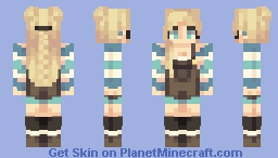 Ocean and Sky Kisses Minecraft Skin
