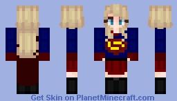 [Updated Super Girl] : Again | ✰ Stucky ✰ Minecraft Skin