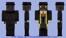 "1/8 Samuel L. Jackson as Major Marquis Warren ""The Hateful Eight"" Minecraft Skin"