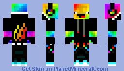 Derpy Rainbow Slime With Fire Nation Minecraft Skin