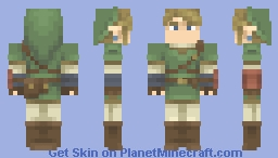Twilight Princess Link (+alts) Minecraft Skin