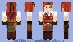 Red Corsair Minecraft Skin