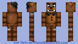 Adventure Withered Freddy - FNAF WORLD [BETTER IN 3D] Minecraft Skin
