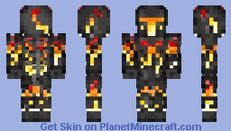 Knight of Embers Minecraft Skin