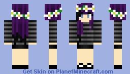 AmusedWhovian's Skin Request - Emo Girl with Flower Crown Minecraft Skin