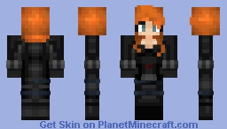 Black Widow Civil War Minecraft Skin
