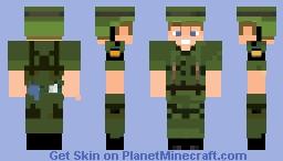 Vietnam War M1 Helmet and Uniform Skin Minecraft Skin