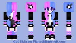 gothic candy cat ;; Minecraft Skin