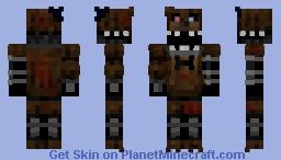 The Joy Of Creation: Ignited Freddy Minecraft Skin