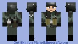 Wehrmacht Soldier Wendetarn Jacke Splitter Minecraft Skin